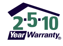 Registered in the 10-year Warranty Program with National Home Warranty